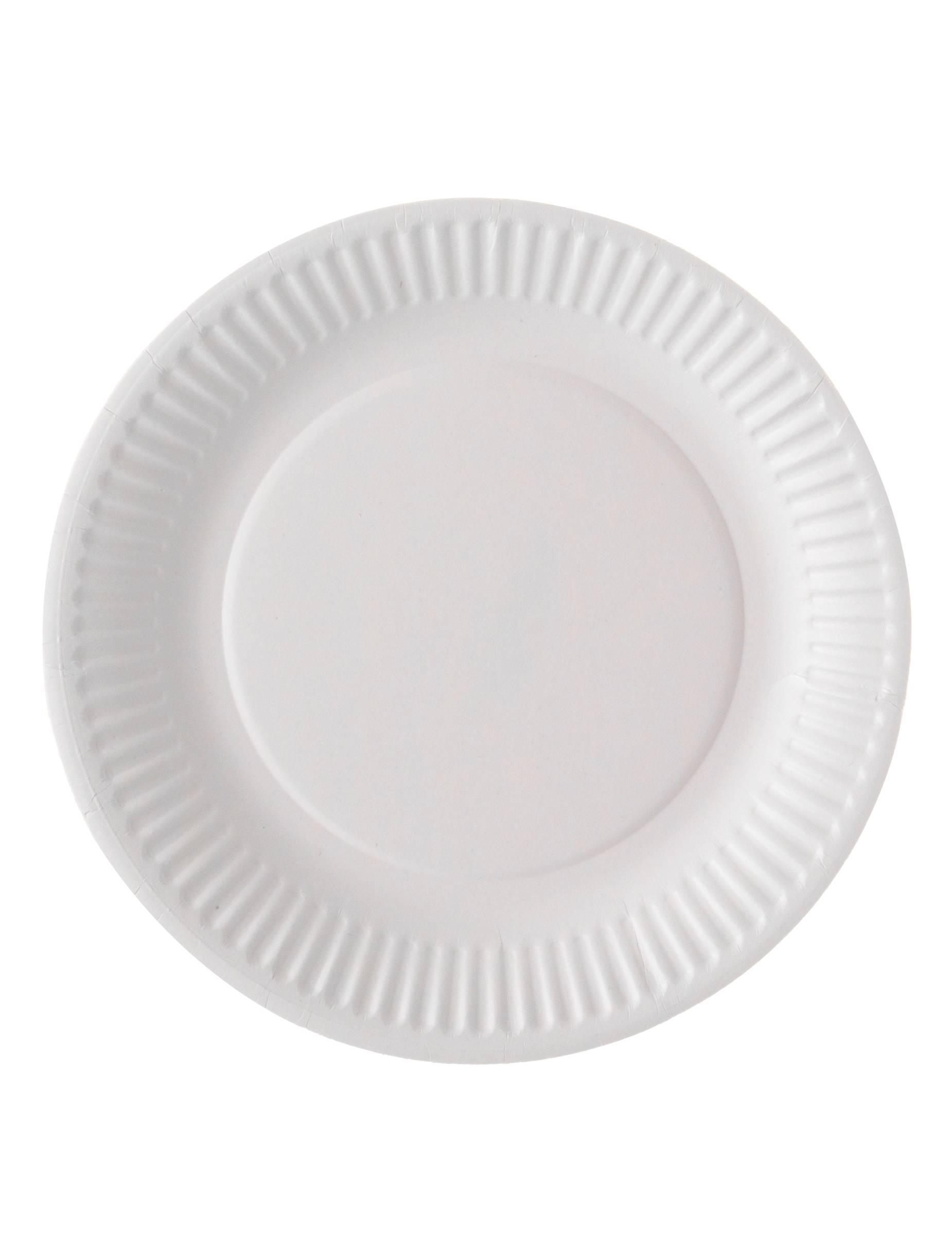 VegaooParty 100 assiettes en carton blanc biodegradable 18 cm