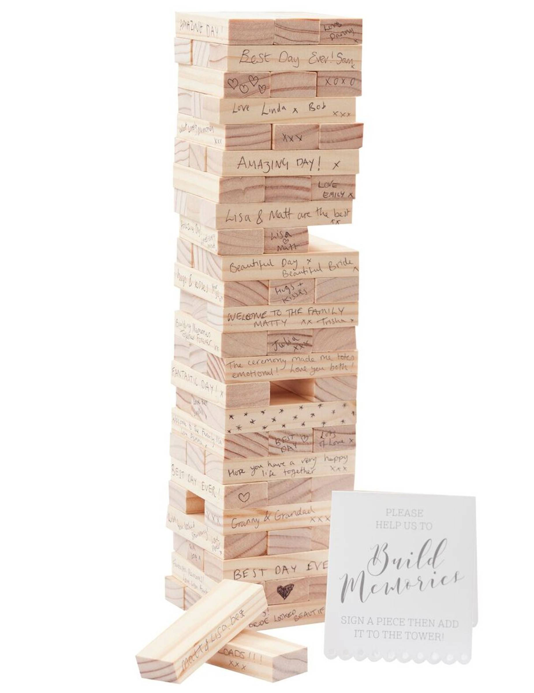 VegaooParty Livre d'or jeu de construction en bois