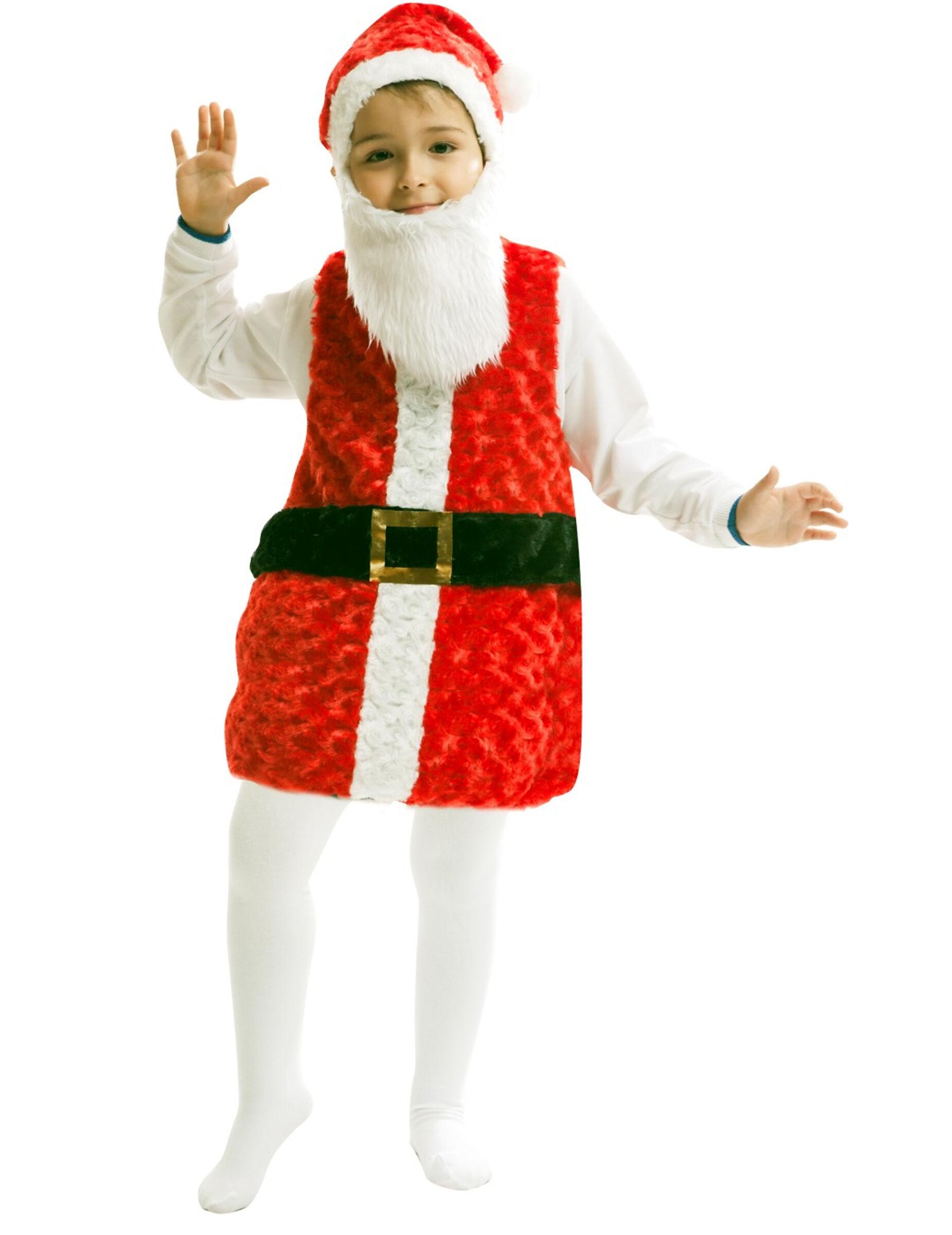 VegaooParty Déguisement Père Noël avec bonnet et barbe enfant - Taille: 1 à 2 ans