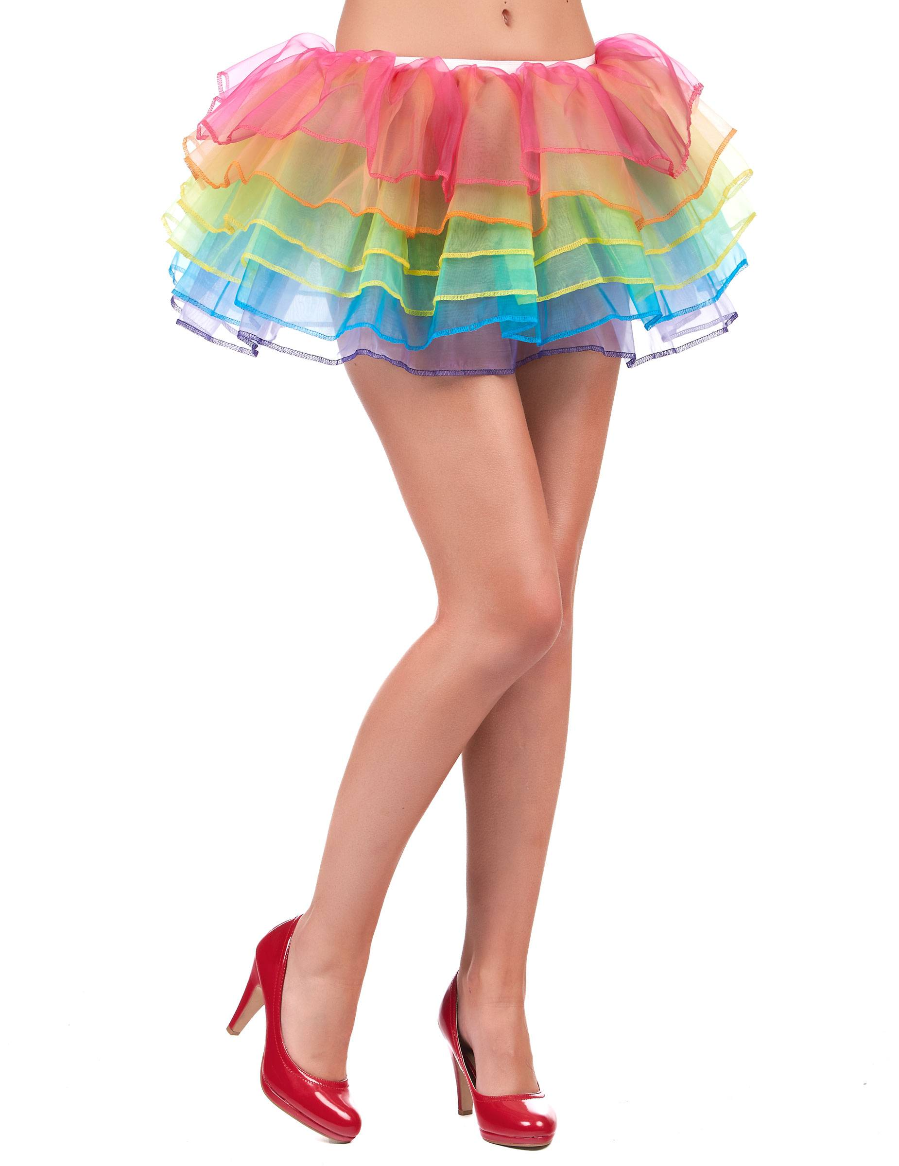 VegaooParty Tutu jupon multicolore adulte