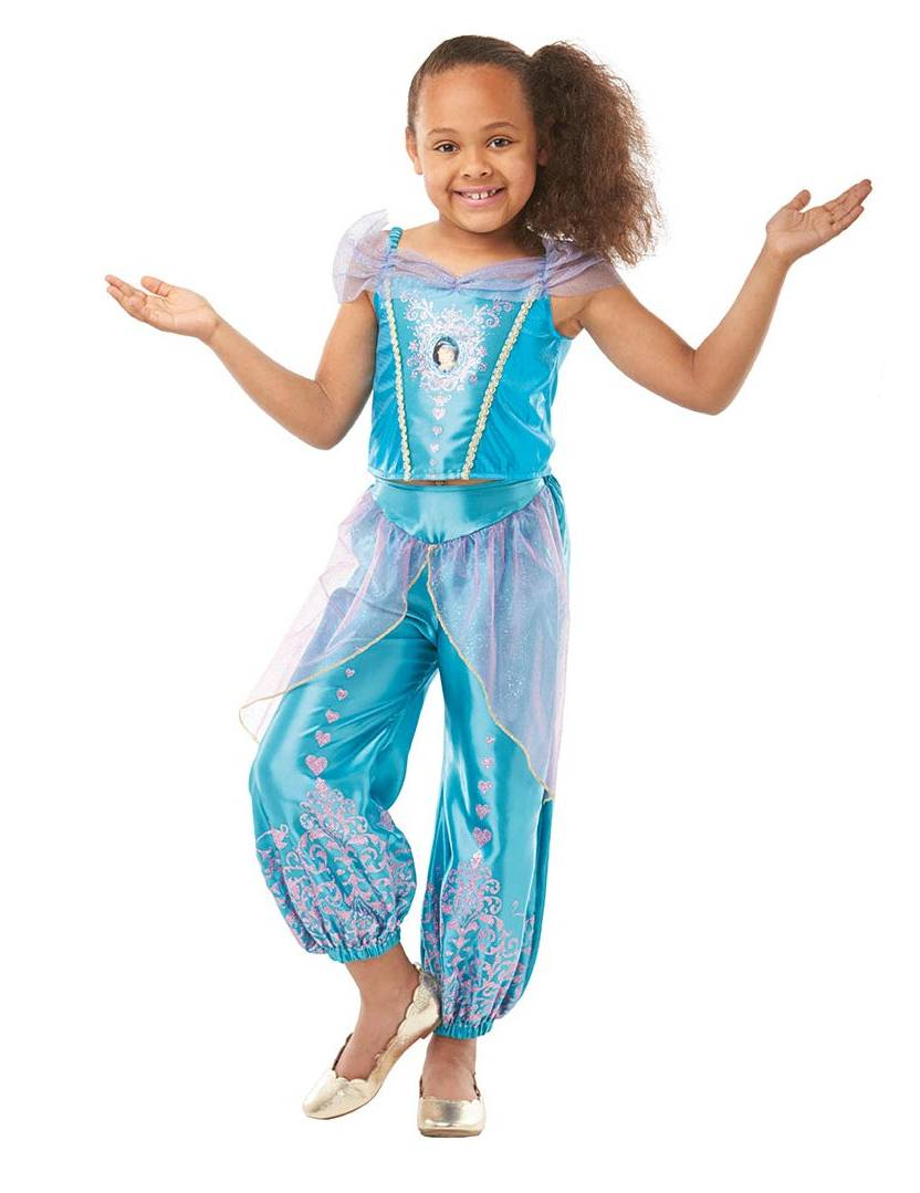 VegaooParty Déguisement classique princesse Jasmine Live action fille - Taille: 7 à 8 ans (117 à 128 cm)
