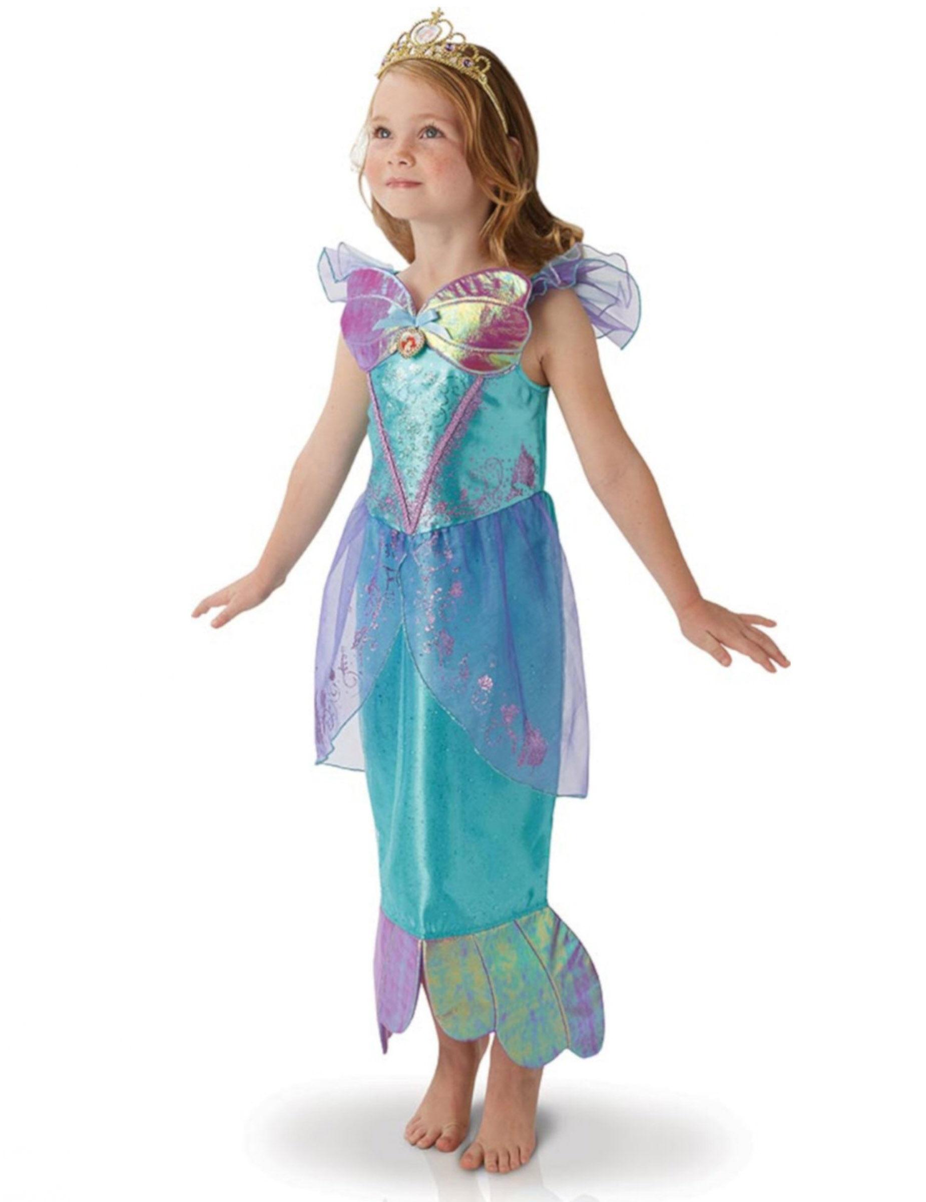 VegaooParty Déguisement Disney Princesse Ariel fille - Taille: 7 à 8 ans (117 à 128 cm)