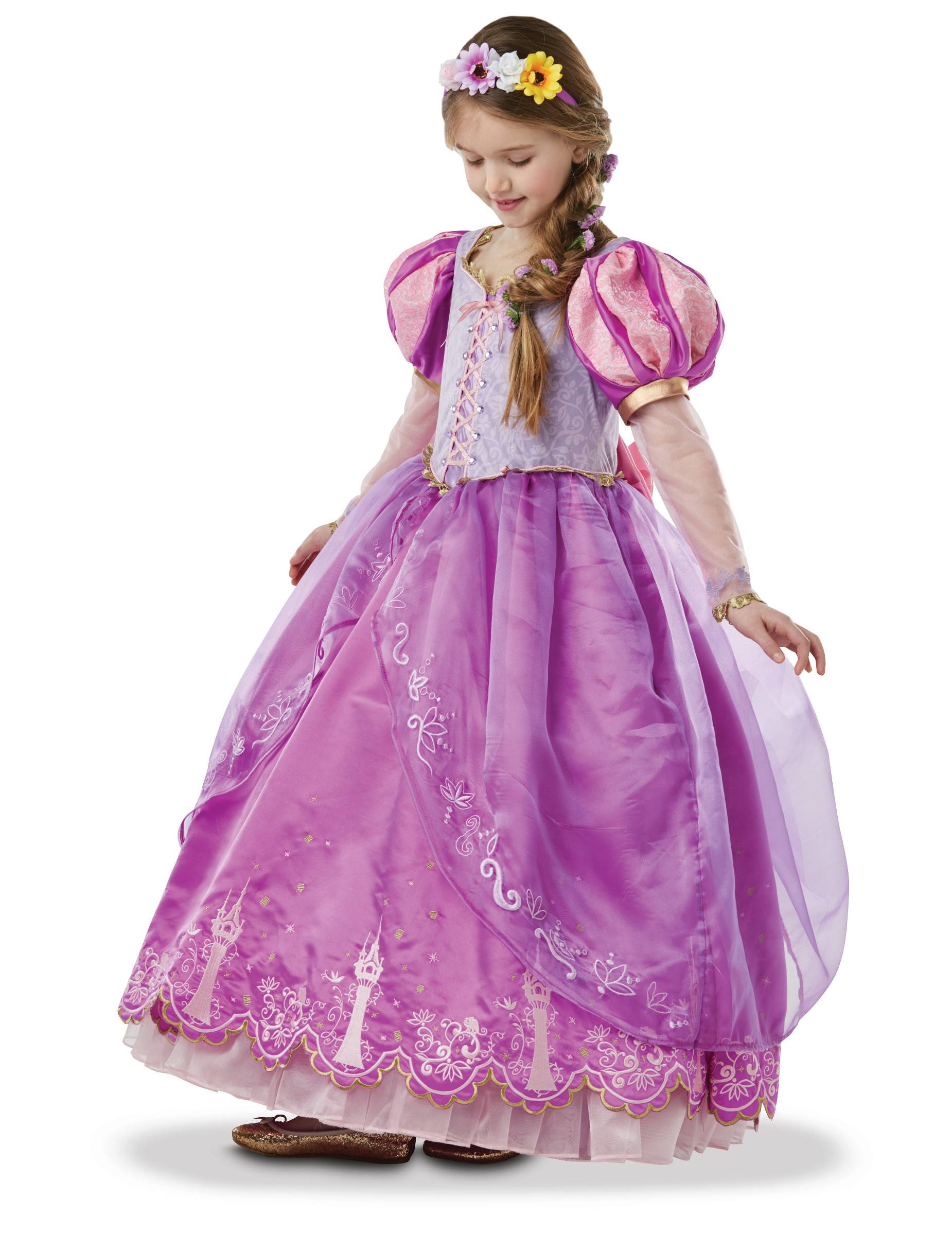 VegaooParty Déguisement Princesse Raiponce collector fille - Taille: 5 à 6 ans (105 à 116 cm)