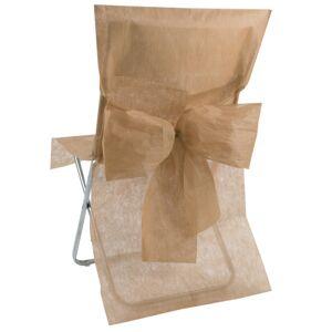 VegaooParty 10 Housses de chaise Premium taupe - Publicité