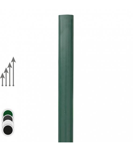 Poteau rond pour Barreaudage - Couleur - Vert 6005, Hauteur du poteau : - 2m00