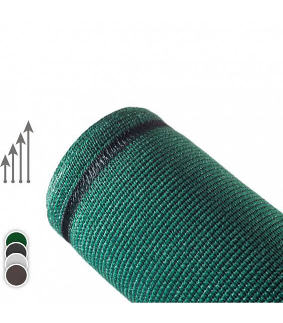 25ML de Brise vue Toile SUPER - Couleur - Vert 6005, Hauteur - Ht 1m20