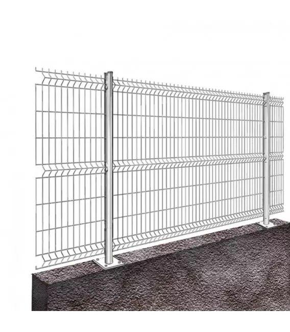 Kit 80ML de grillage rigide sur platines Pro+ (Ø 5/5mm) - Couleur - Blanc 9010, Hauteur - Ht 1m93