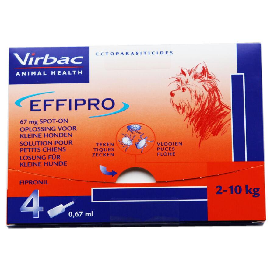 Virbac Effipro Spot-On Chiens de 2 kg à 10 kg Contenance : 4 pipettes
