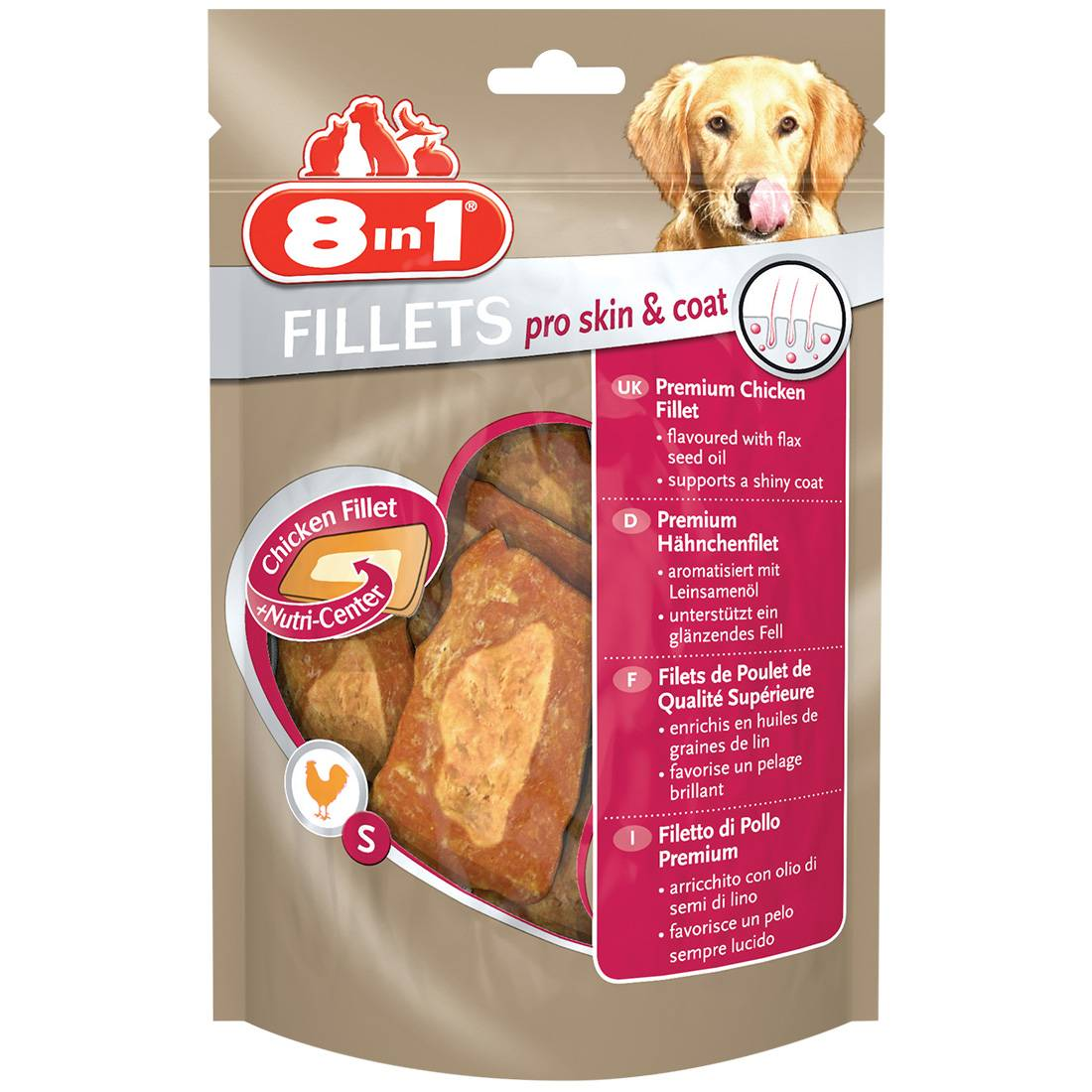 8in1 Fillets Pro Skin&Coat Taille : S