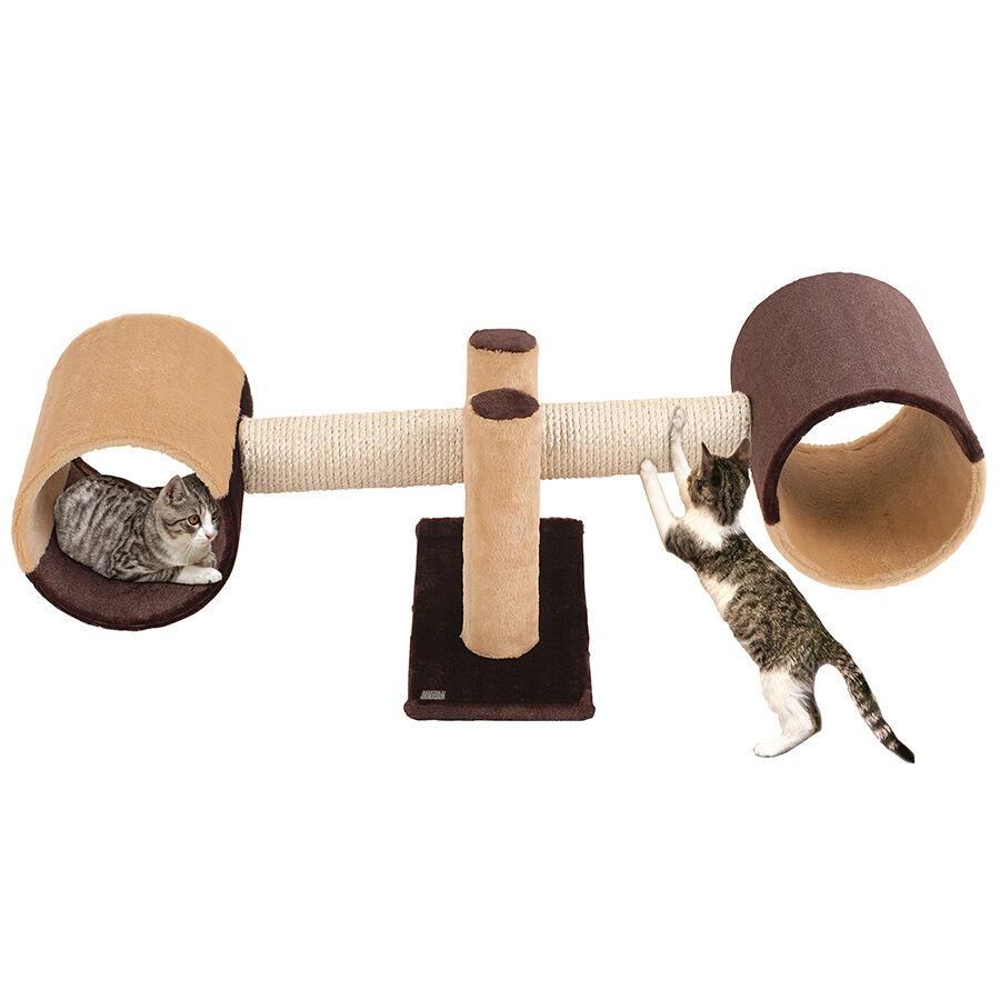 karlie / flamingo griffoir pour chat rocket marron et beige