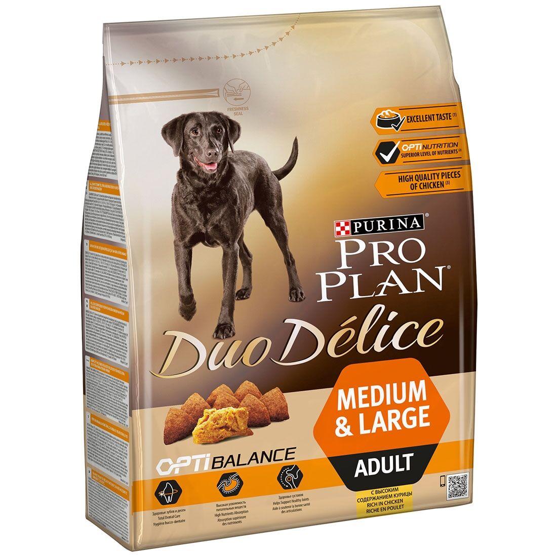 PRO PLAN Duo Délice Medium & Large Adult Poulet et Riz Contenance : 2,5 kg
