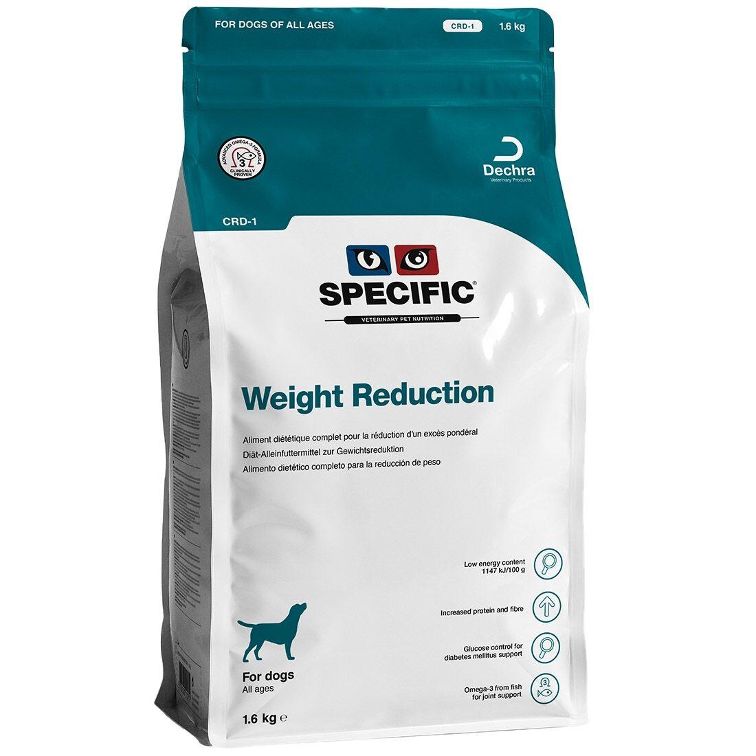 Specific Croquettes chien SPECIFIC CRD-1 Weight Reduction Contenance : 4,8 kg (3 sacs de 1,6 kg)