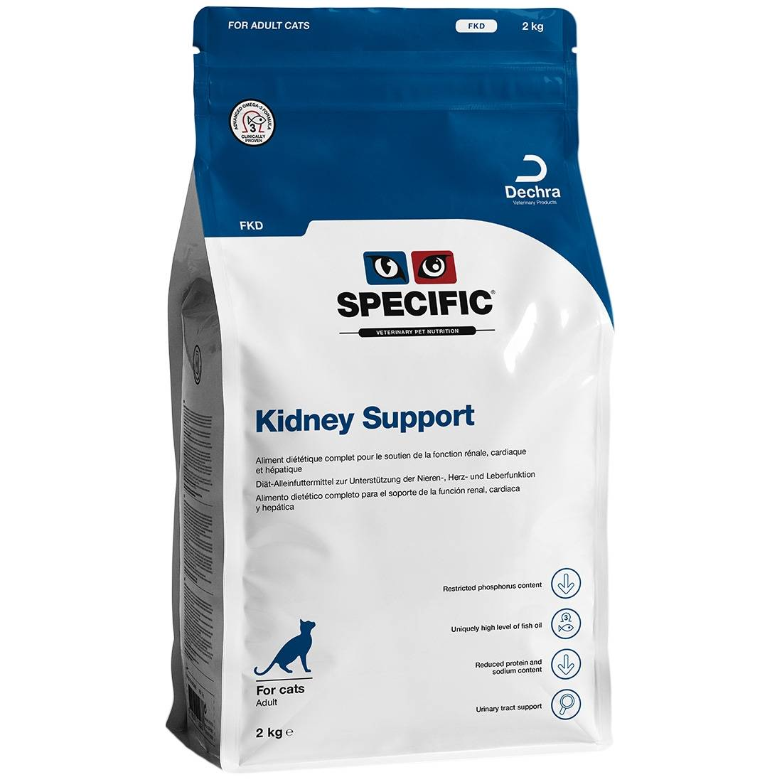 Specific Croquettes chat SPECIFIC FKD Kidney Support Contenance : 2 kg