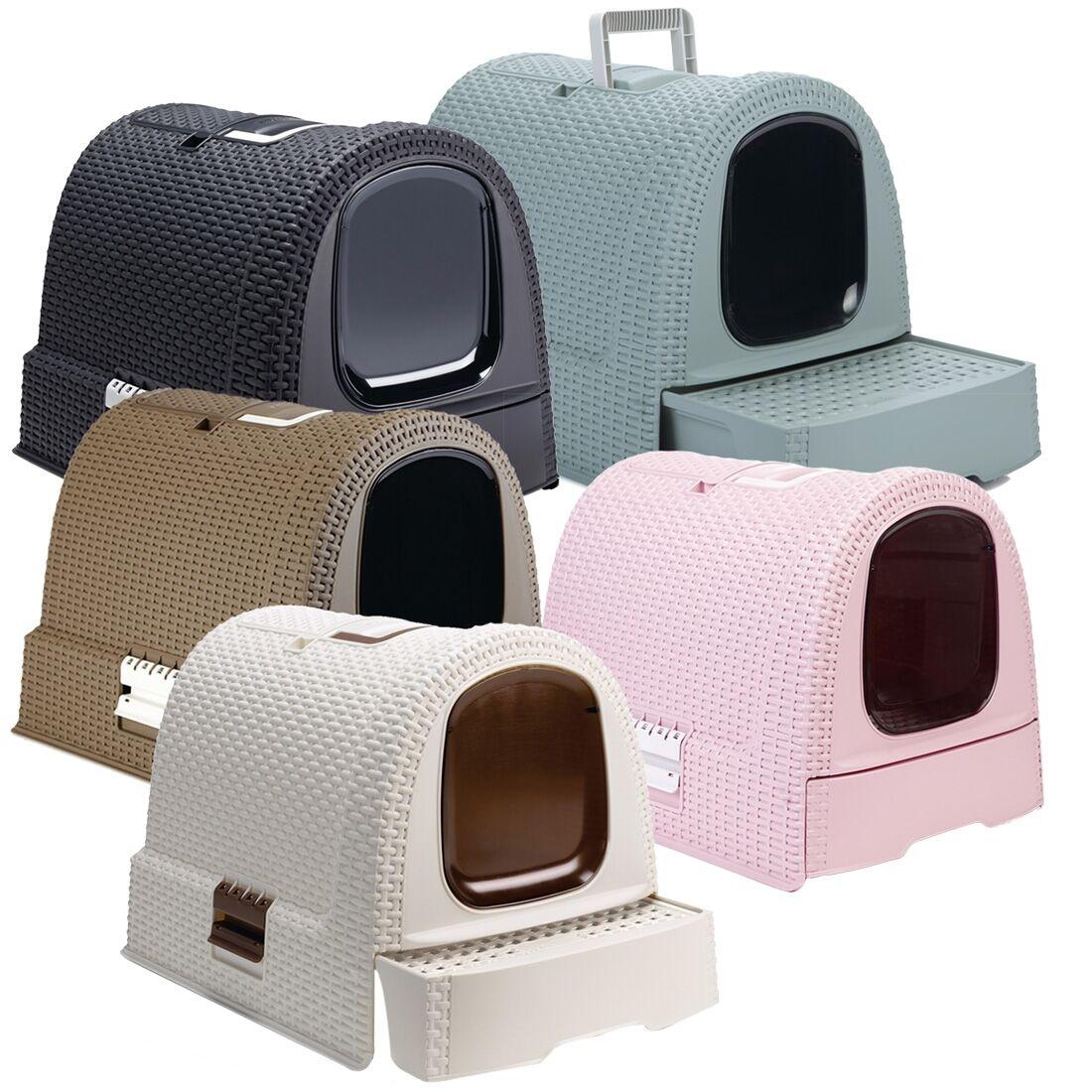 Curver Maison de toilette pour chat CURVER Couleur : Bleu / Gris