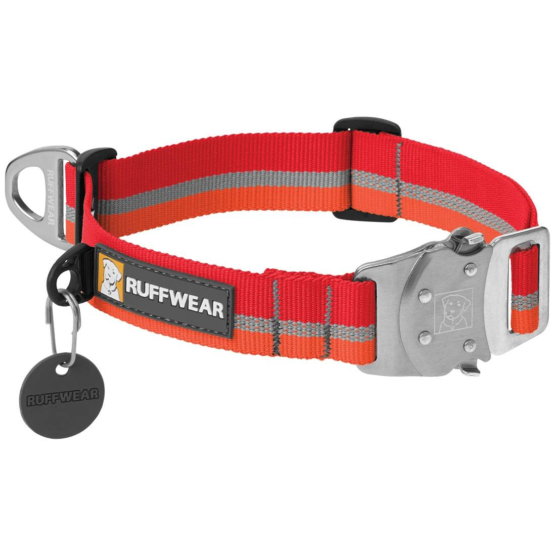 Ruffwear Collier pour chien Ruffwear Top Rope rouge Taille : L