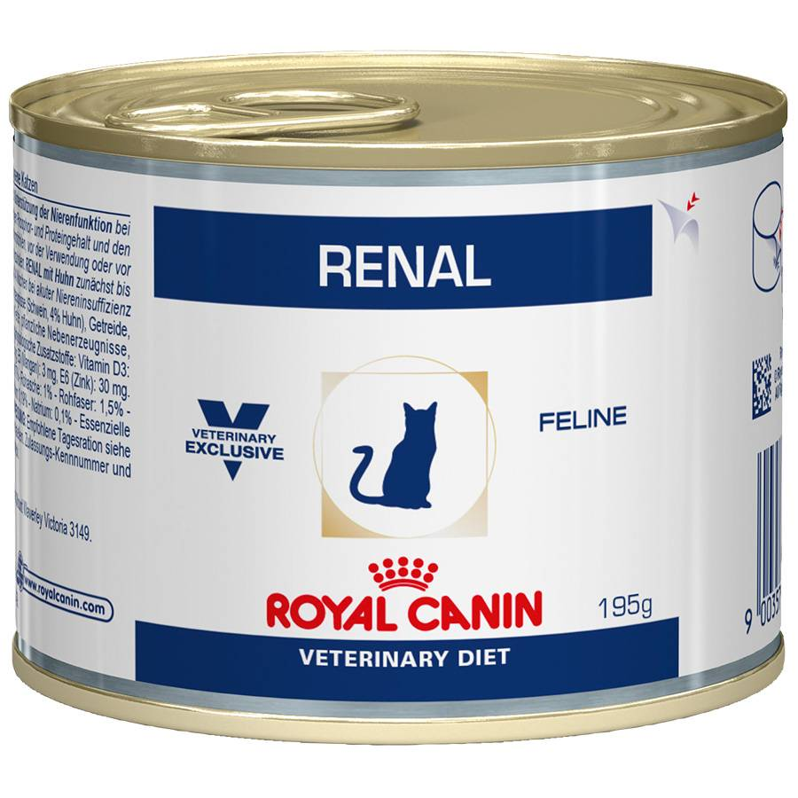 Royal Canin Veterinary Boîtes Royal Canin Veterinary Diet Chat Renal Contenance : 12 boites de 195 g