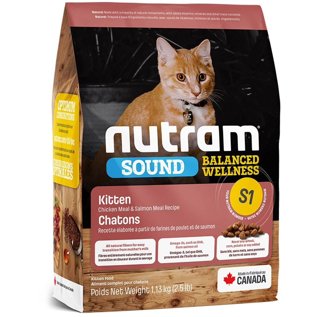 Nutram Croquettes chat Nutram Sound Balanced Wellness S1 Kittens Contenance : 1,13 kg