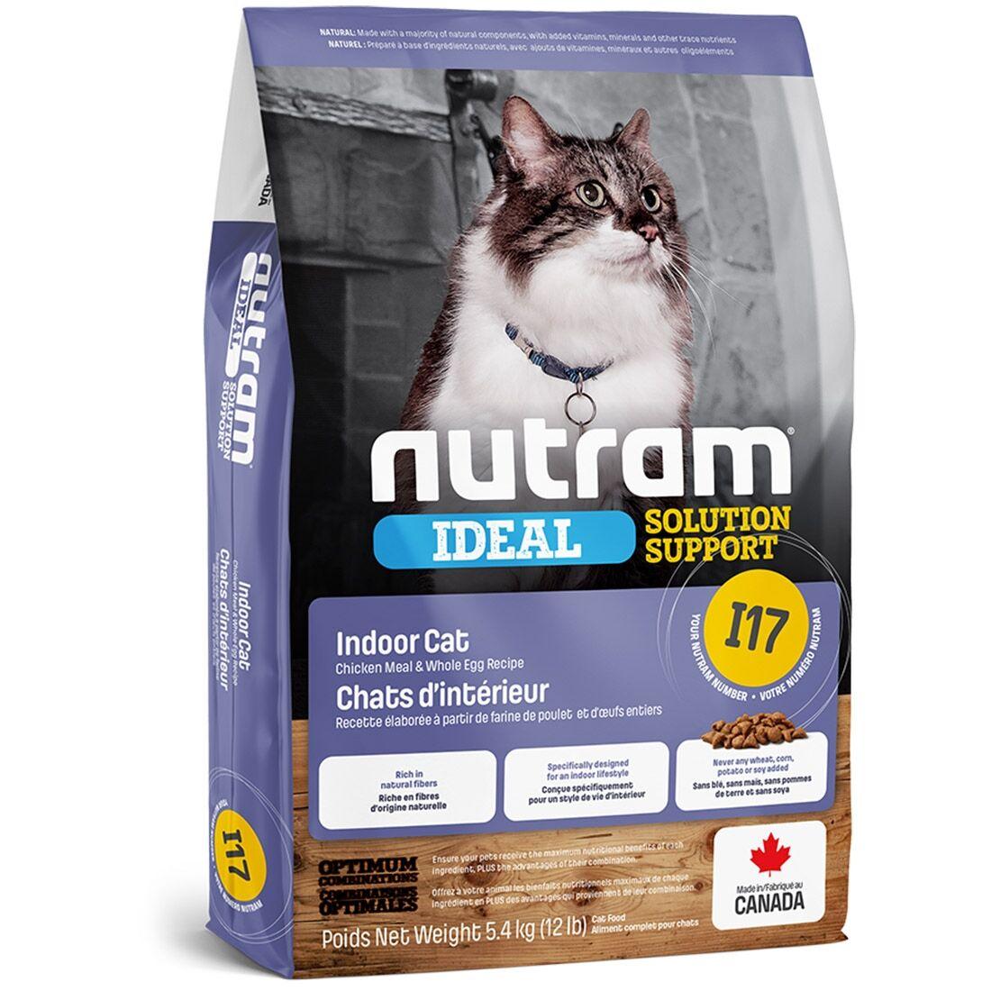 Nutram Croquettes chat Nutram Ideal Solution Support I17 Indoor Shedding Cat Contenance : 5,4 kg
