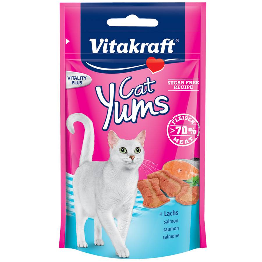 Vitakraft Friandises pour chat Vitakraft Cat Yums au saumon Contenance : 40 g