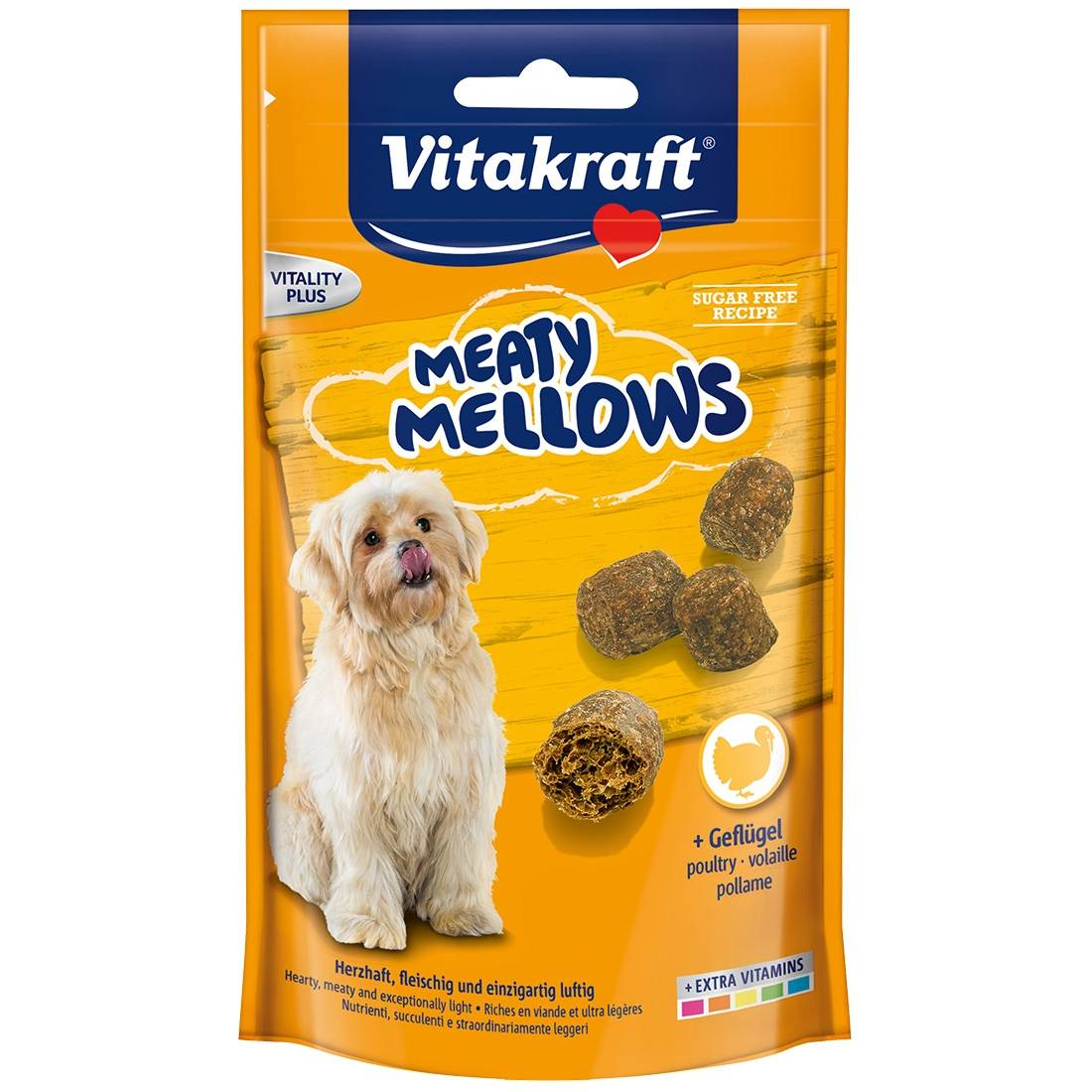 Vitakraft Friandise pour chien Vitakraft Meaty Mellows à la volaille Contenance : 120 g