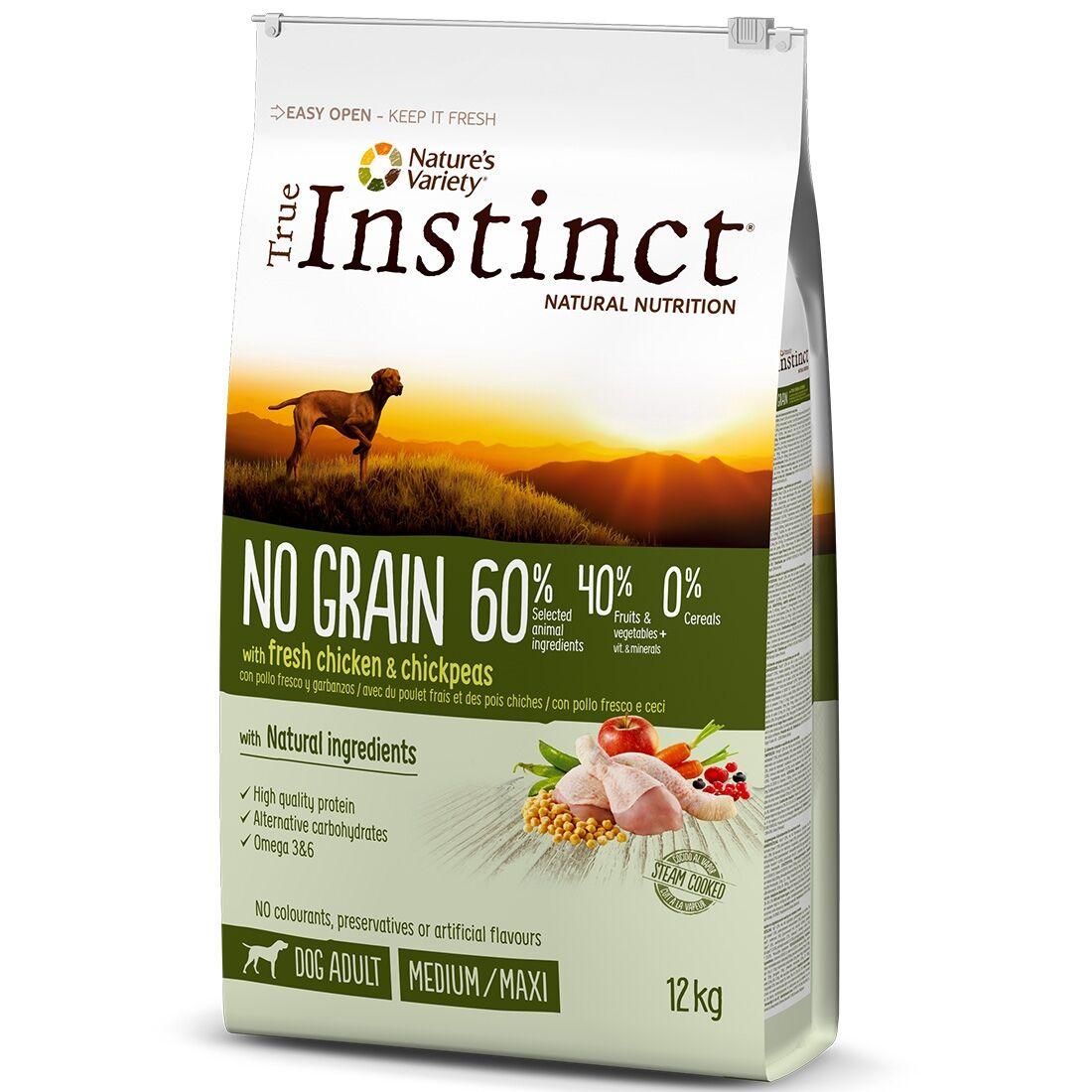 True Instinct Croquettes chien True Instinct No Grain Medium Maxi Adult Chicken Contenance : 2 kg