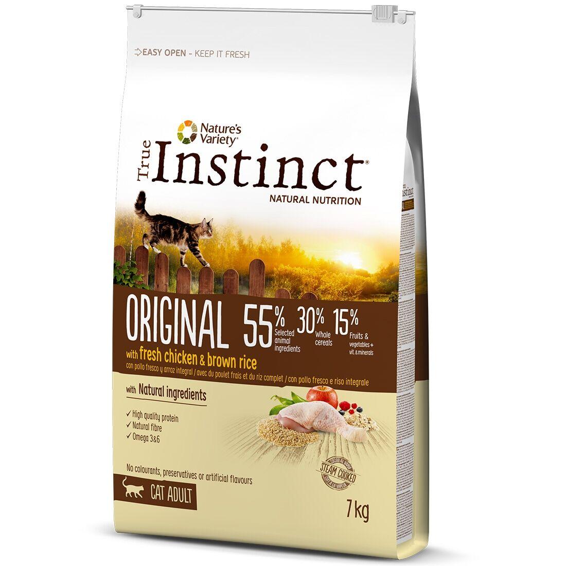 True Instinct Croquettes chat True Instinct Original Adult Chicken Contenance : 7 kg