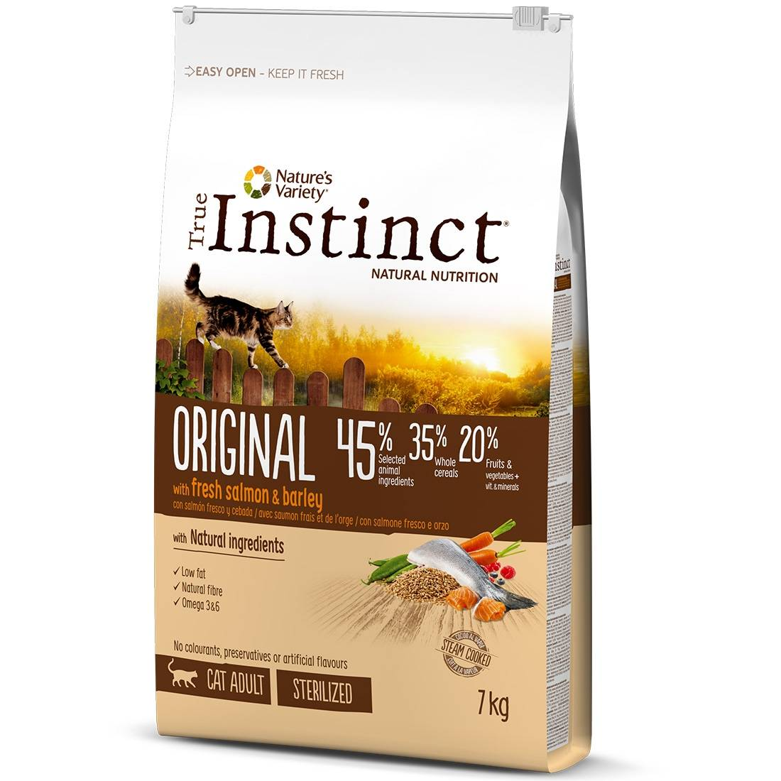 True Instinct Croquettes chat True Instinct Original Sterilized Adult Salmon Contenance : 1.25 kg