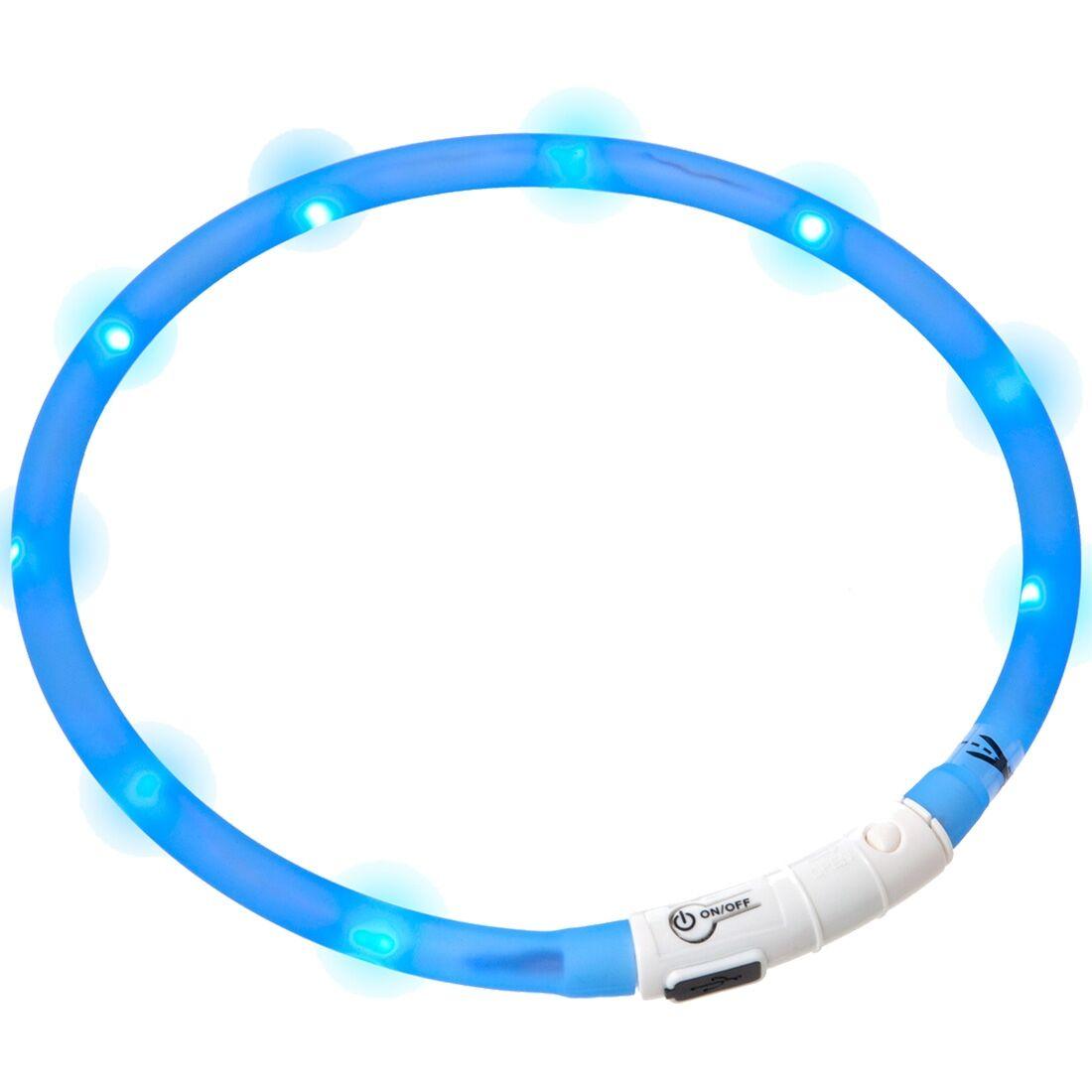 Karlie / Flamingo Collier lumineux pour chien LED bleu
