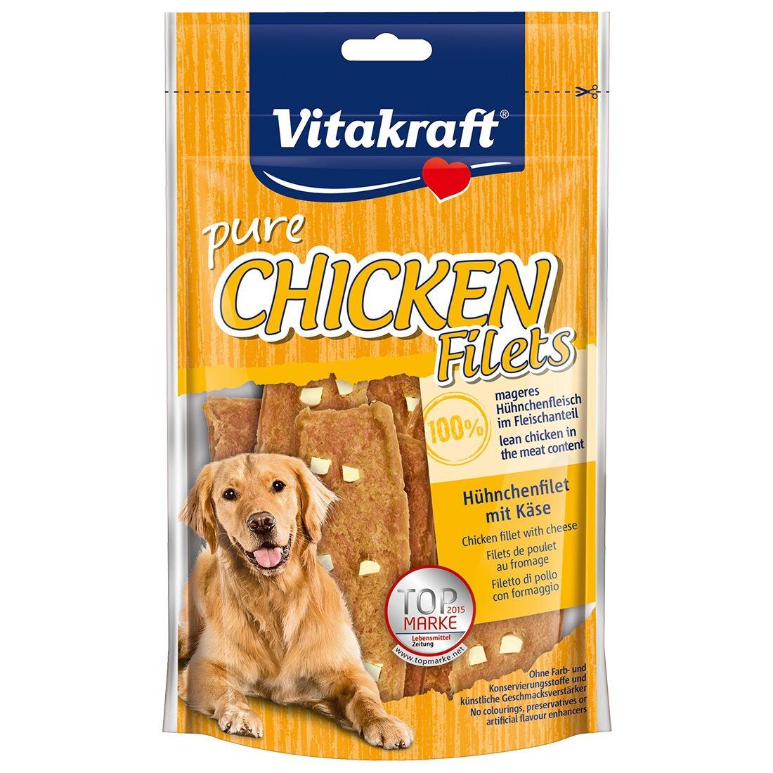 Vitakraft Friandises pour chien Vitakraft Filets de Poulet au fromage Contenance : 80 g