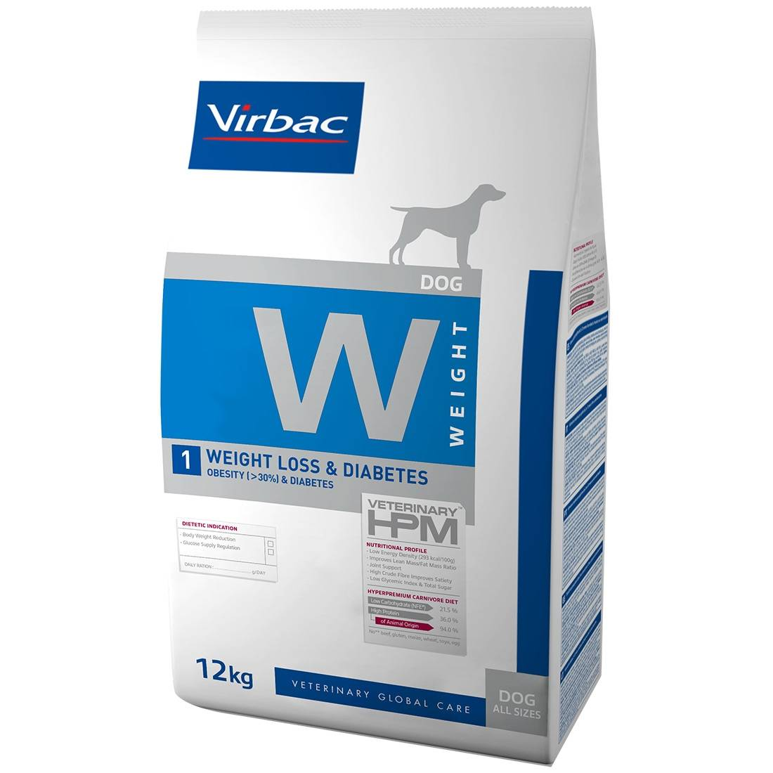 Virbac Veterinary HPM Weight Loss & Diabetes Dog Contenance : 12 kg