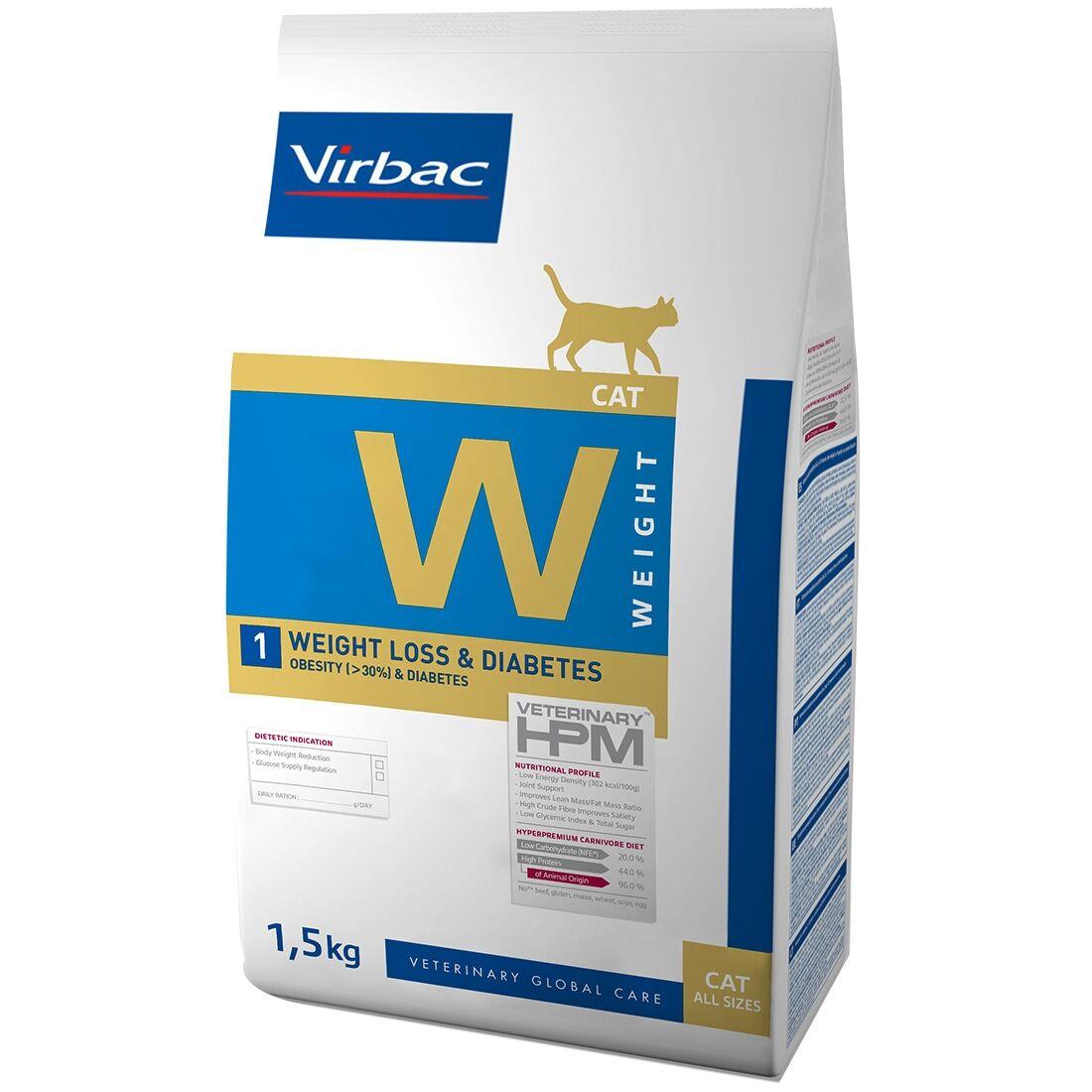 Virbac Veterinary HPM Weight Loss & Diabetes Cat Contenance : 1,5 kg