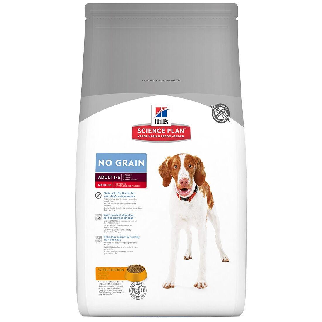 Hill's Science Plan Adult Medium No Grain Chicken Contenance : 14 kg