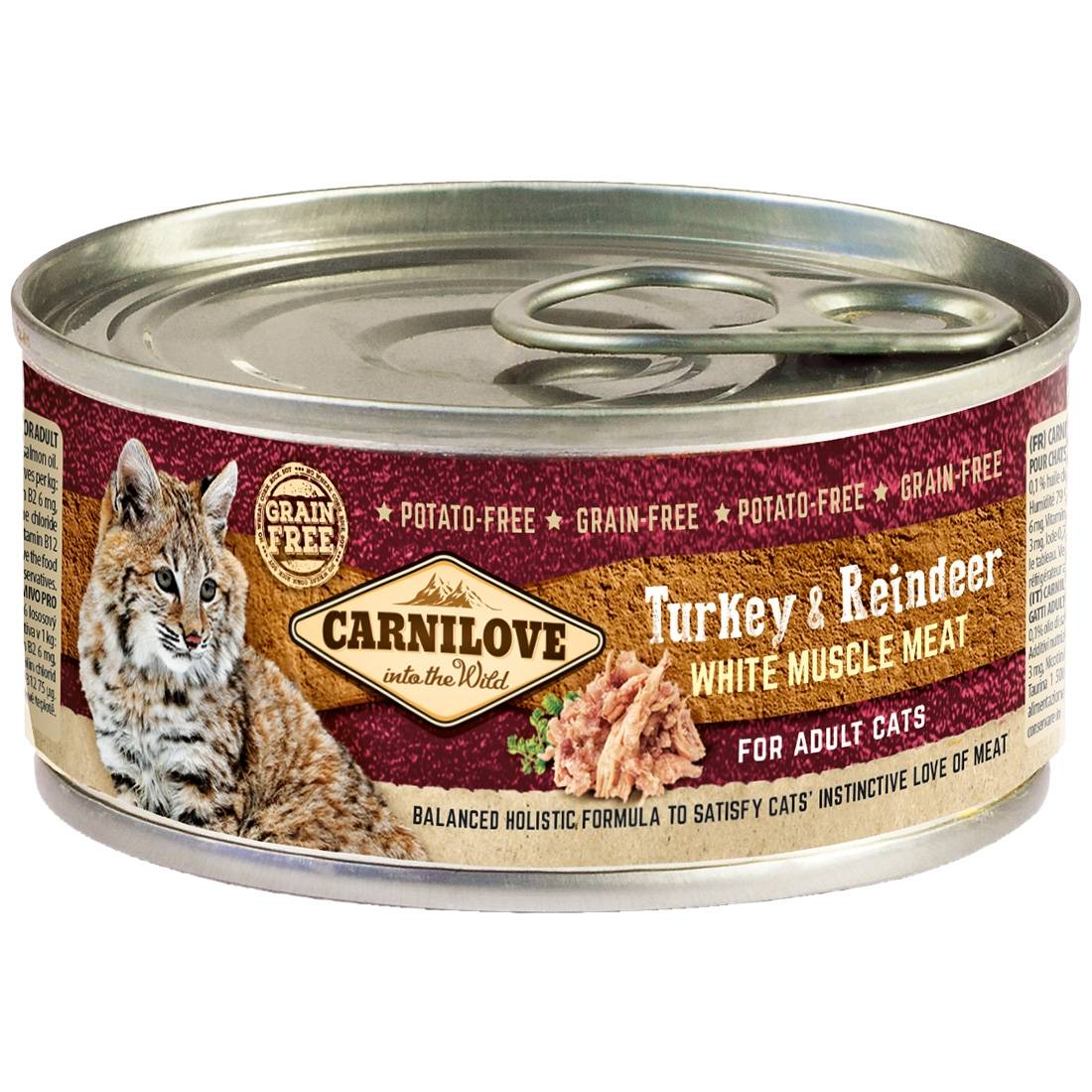 Carnilove Boites chat CARNILOVE Adult Turkey & Reindeer Contenance : 6 boites de 100 g