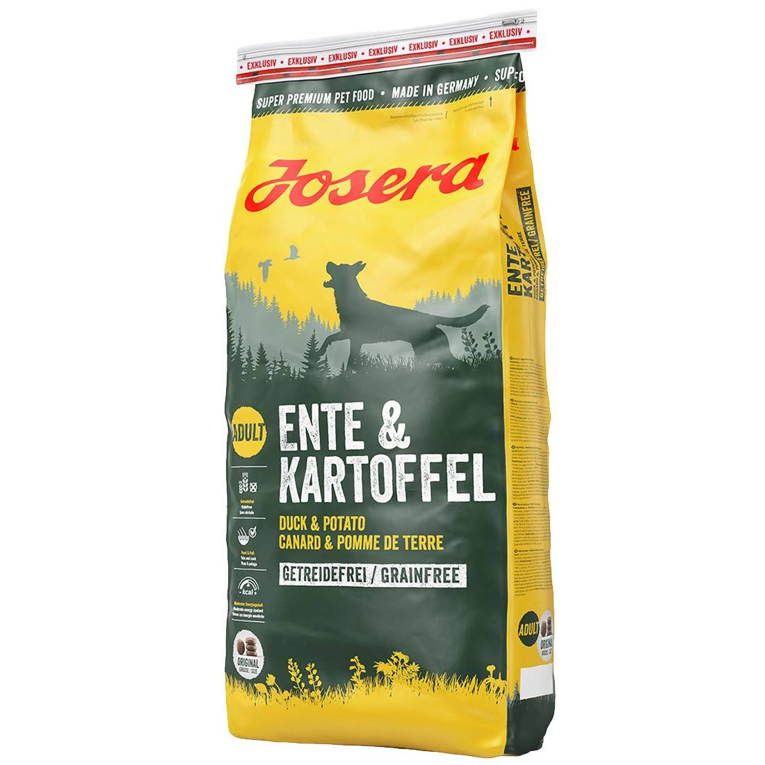 Josera Croquettes chien Josera Canard & Pomme de terre Contenance : 15 kg