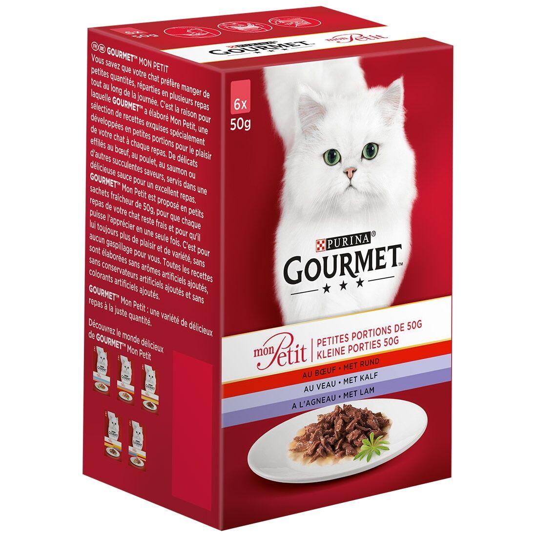 Gourmet Sachets repas Gourmet Mon Petit Viandes Contenance : 6 sachets de 50 g