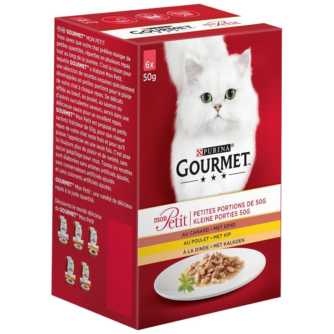 Gourmet Sachets repas Gourmet Mon Petit Volaille Contenance : 6 sachets de 50 g