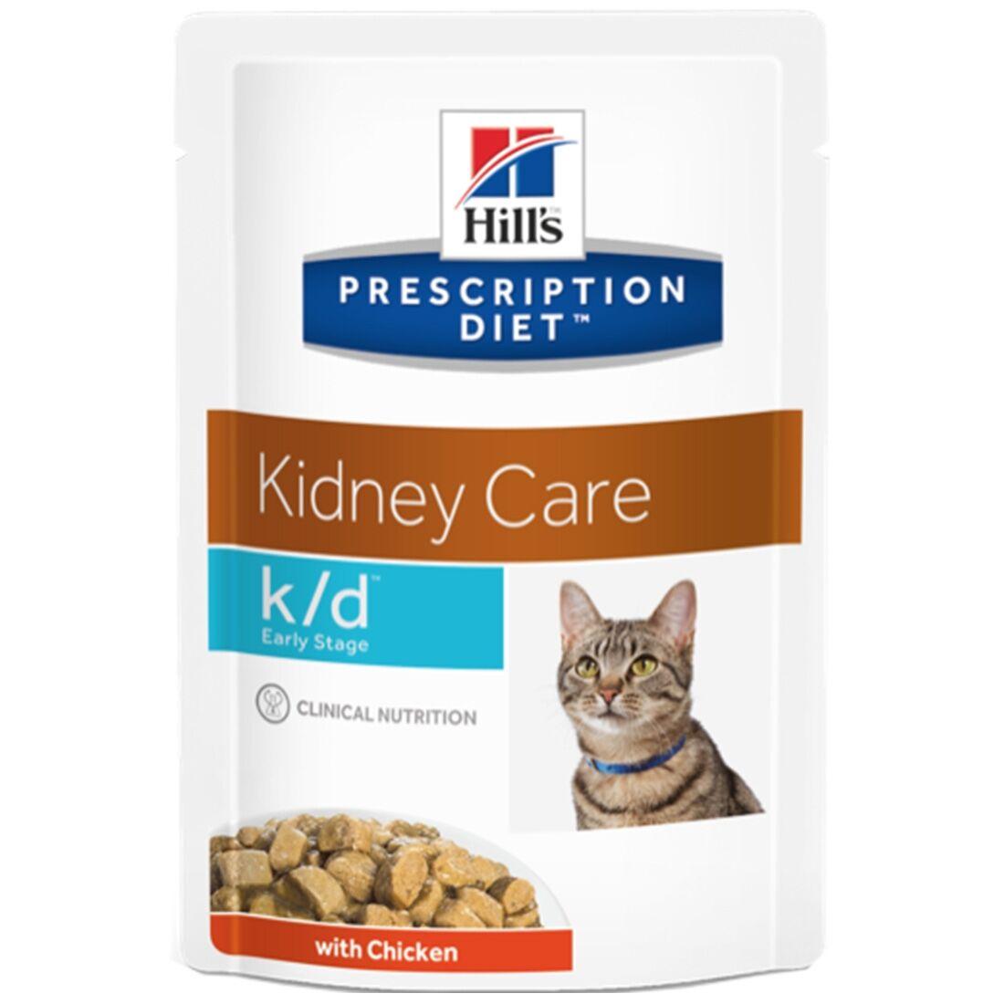 Hill's Prescription Diet Sachets Repas Hill's Prescription Diet Feline k/d Early Stage Contenance : 12 sachets de 85 g