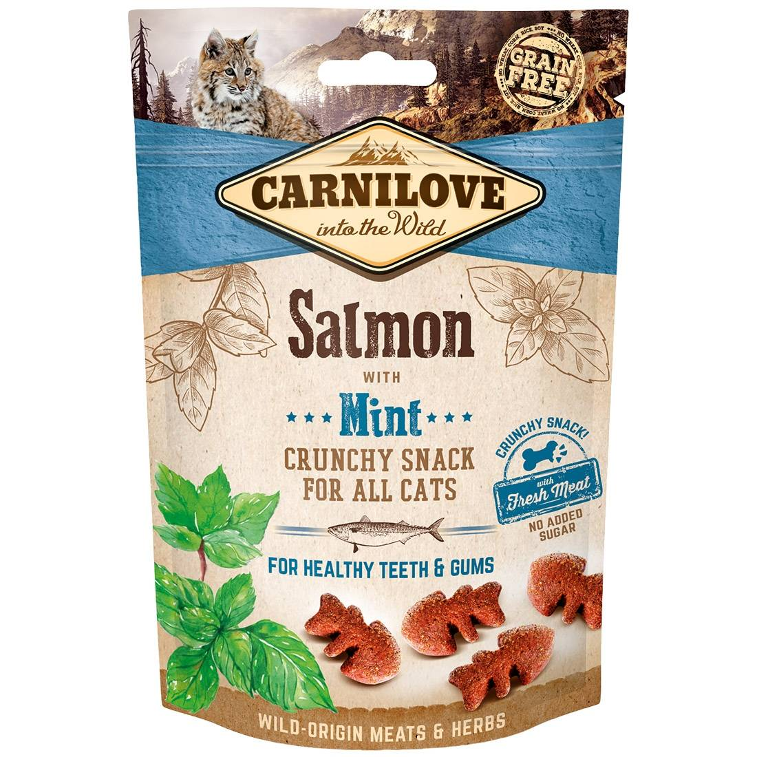 Carnilove Biscuits pour chat Carnilove Crunchy Snack Salmon & Mint Contenance : 50 g