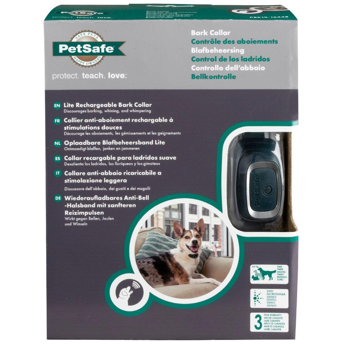 PetSafe Collier anti-aboiement rechargeable à stimulations douces PBC19-16448