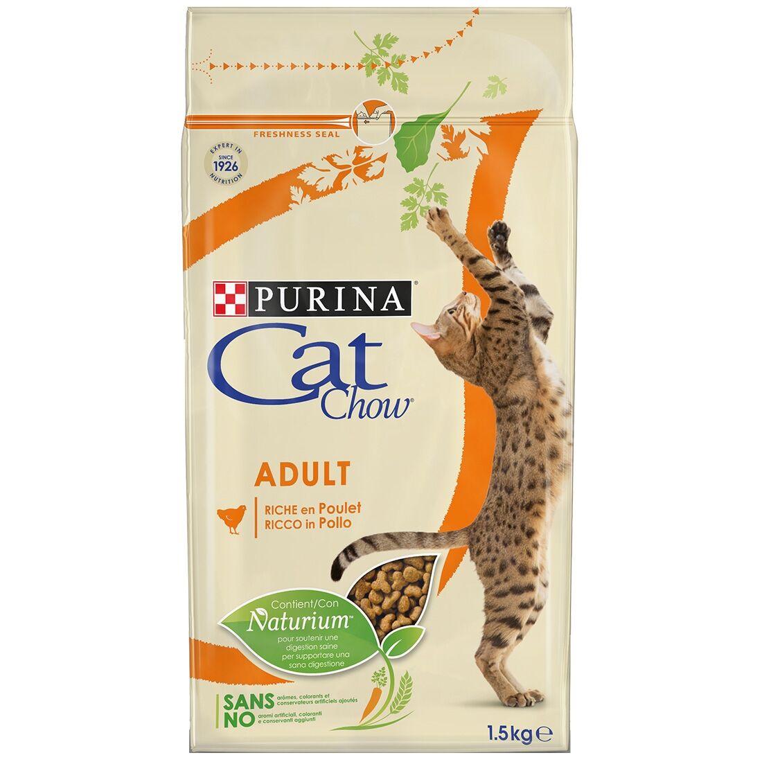 Cat Chow Adult Poulet et Dinde Contenance : 1,5 kg