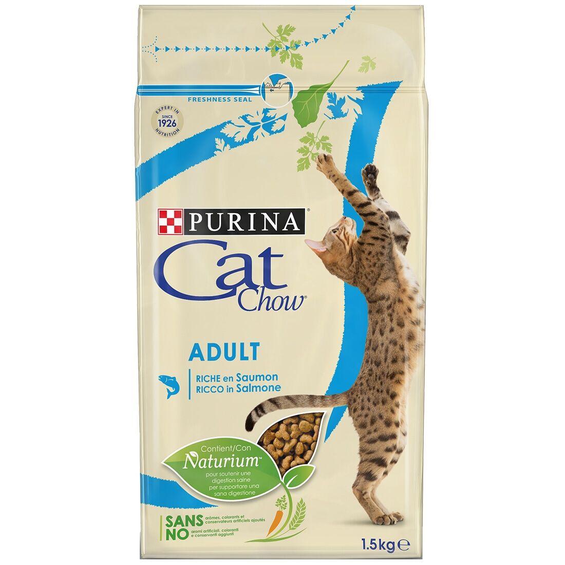 Cat Chow Adult Thon et Saumon Contenance : 3 kg
