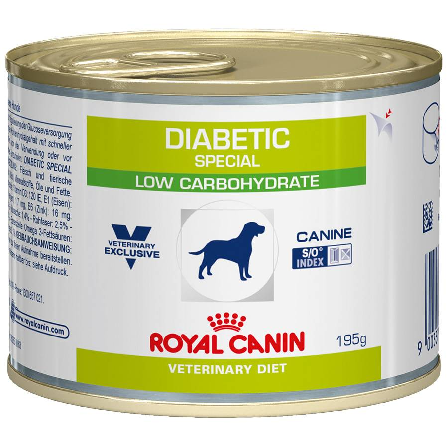 Royal Canin Veterinary Boîtes Royal Canin Veterinary Diet Chien Diabetic Special Low Carbohydrate Contenance : 12 boites de 195 g