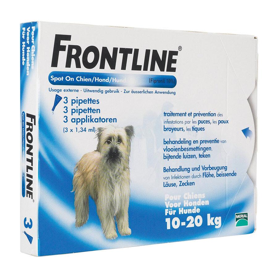 Merial Frontline Spot-On chiens de 10 kg à 20 kg Contenance : 3 pipettes