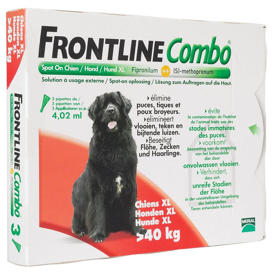 Merial Frontline Combo chiens de plus de 40 kg Contenance : 3 pipettes