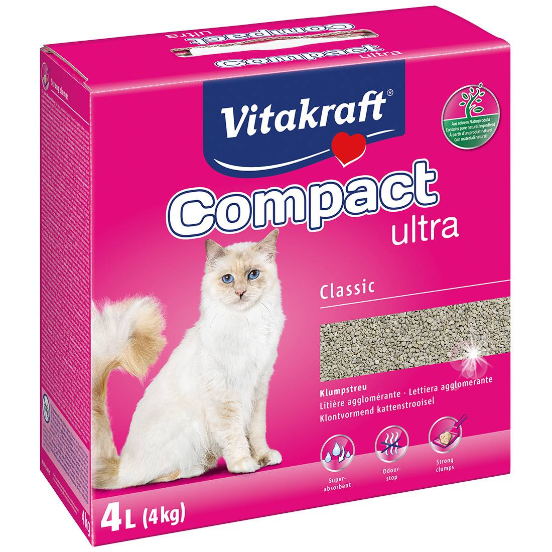 Vitakraft Litière pour chat Vitakraft Compact Ultra Contenance : 4 kg