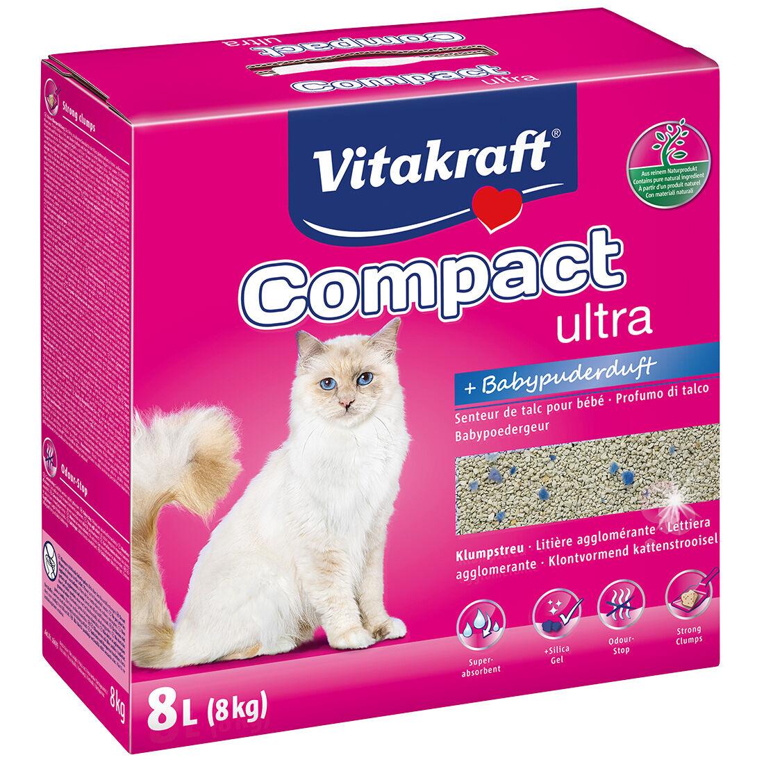 Vitakraft Litière pour chat Vitakraft Compact Ultra Plus Contenance : 8 kg