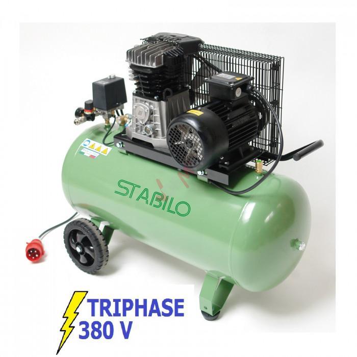 Dema Compresseur bi-cylindre 400 V - cuve 100 L - 500/10/100