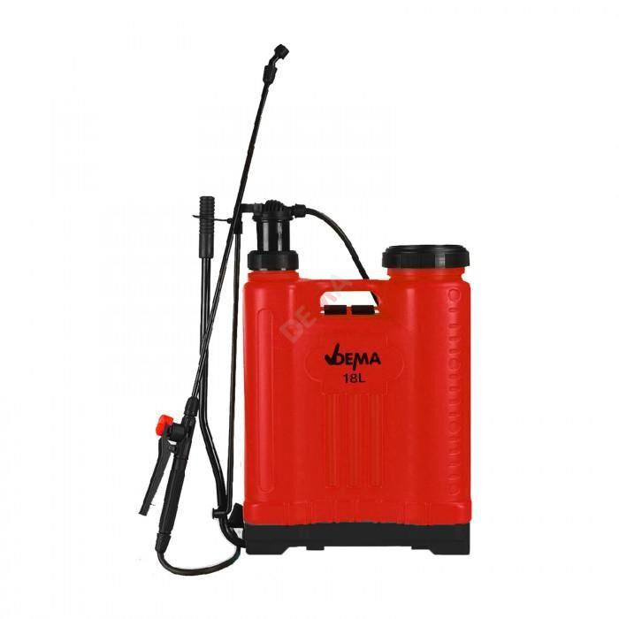 Dema Pulvérisateur dorsal à pompe + lance - 18 litres