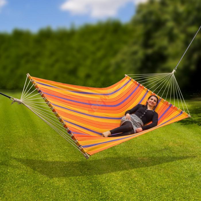"""Dema Hamac en lin """"COLOUR"""" 200 kg surface de couche 2100 x 1450 mm jardin"""