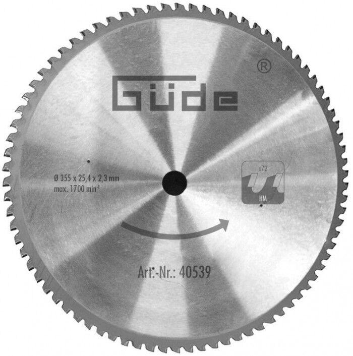 Guede Lame de scie circulaire à métaux 355 mm 72 dents pour G40549